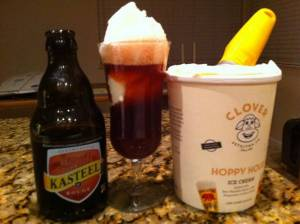Clover Stornettas Hoppy Hour Beer Float