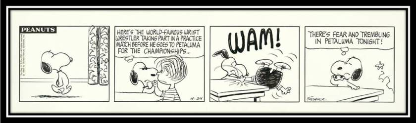 Snoopy Arm Wrestling Linus Comic Strip