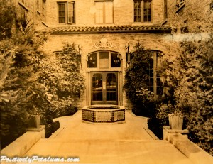 Original Petaluma Hotel Courtyard Entrance