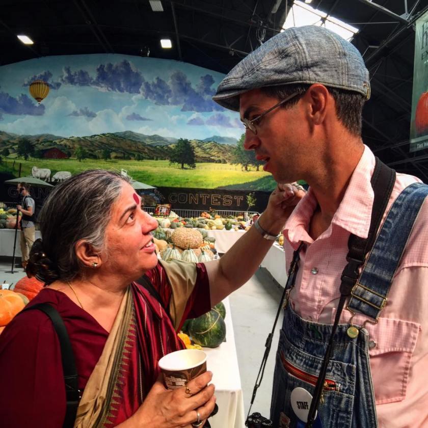 Vandana Shiva & Jere Gettle. Photo courtesy of Baker Creek Heirloom Seeds.