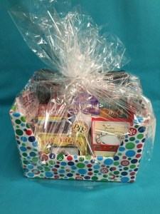 Holiday Crafterino Made Local Gift Basket Display