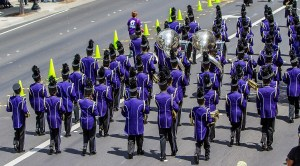 Petaluma High School Marching Band in 2015 Butter & Egg Days Parade