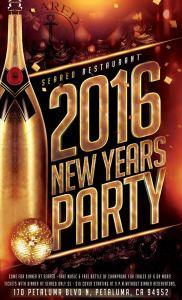 Petaluma Seared New Years Eve Party