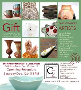 The Gift Invitational At Studio C2 Petaluma CA