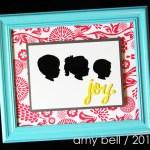 Framed silhouette vignette