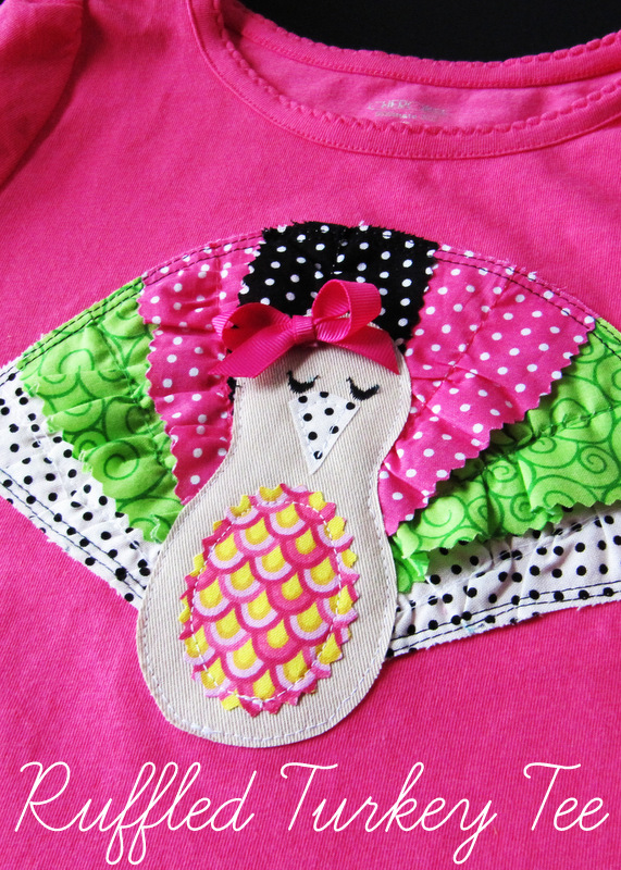 This Thanksgiving ruffled turkey tee at Positively Splendid is absolutely darling! And easy to make, too.