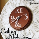 Ceiling Medallion Wall Clock Tutorial