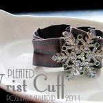 Pleated Wrist Cuff Tutorial