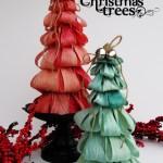 Dyed Corn Husk Christmas Tree Tutorial
