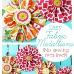 No-Sew Fabric Medallions
