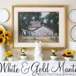 White and Gold Mantel