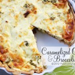 Caramelized Onion and Broccoli Tart