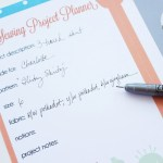 Sewing Project Planner (Free Printable)