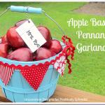 Apple Basket Pennant Garland