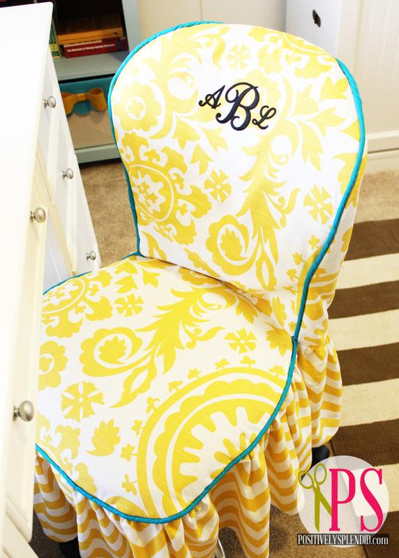Office Chair Slipcover Tutorial :: PositivelySplendid.com