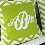 Custom Monogram Pillow Covers (Marine Vinyl Tips & Tricks)