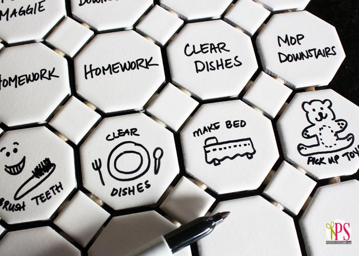 magnetic tile chore chart 7