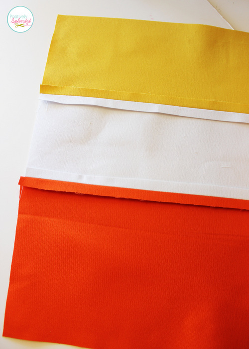 Candy Corn Tote at Positively Splendid. Perfect for trick-or-treat bags!
