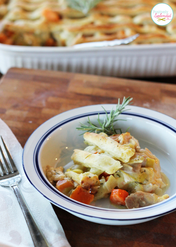 This looks absolutely delicious! Chicken Pot Pie with Rosemary-Cream Cheese Crust at Positively Splendid