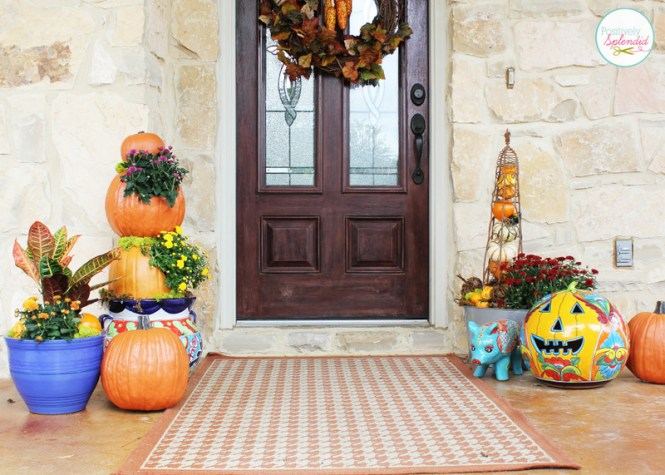 Autumn Home Decor Ideas With Well Fall Decorating For My Porch Contemporary