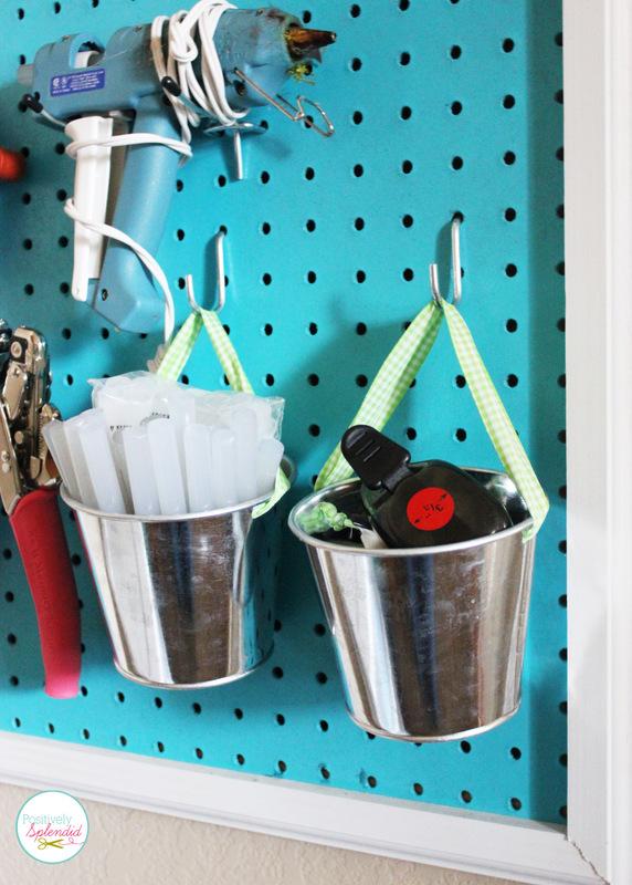 DIY Pegboard Craft Room Organizer