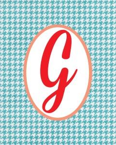 Blue Monogram G