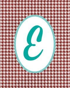 Red Monogram E