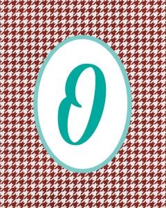Red Monogram O