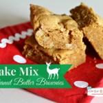 Cake Mix Peanut Butter Brownies #SwellNoel