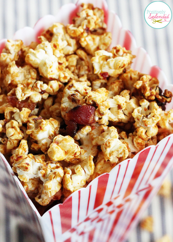 Candied Honey-Adobo Popcorn with Bacon and Lime. Sweet, spicy and salty in one! So incredibly good!