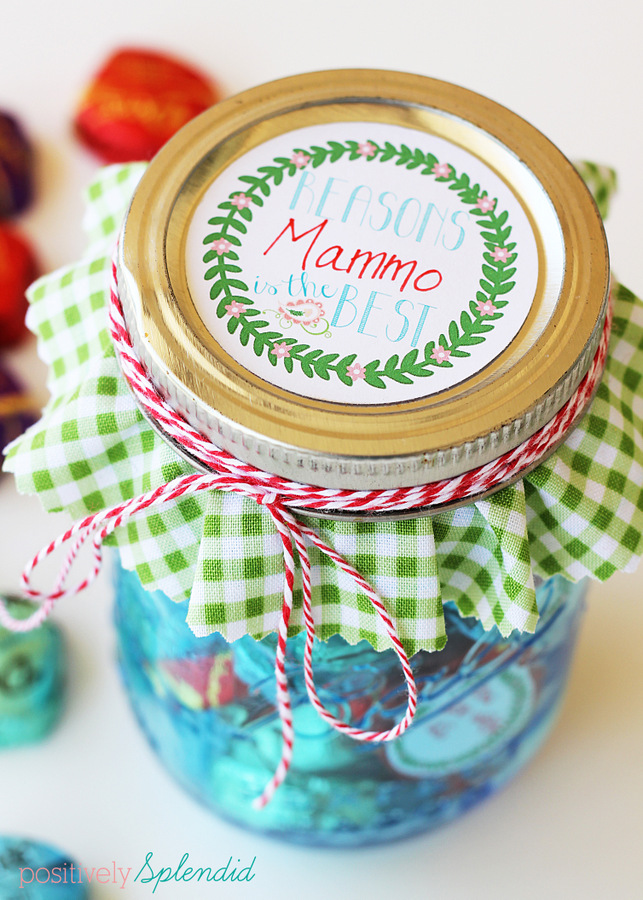 Free printable tags for this sweet Mothers' Day Mason jar gift idea. #SharetheDove