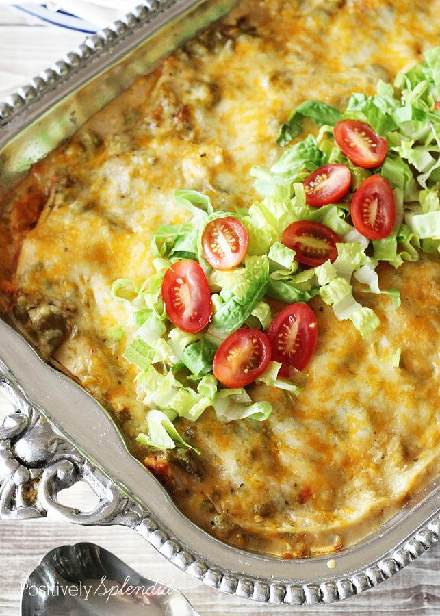 Cream Cheese Chicken Enchiladas Green Sauce