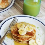 Coconut Banana Pancakes with Cinnamon Honey Butter
