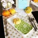DIY Fall Tablescape #TulipForYourHome