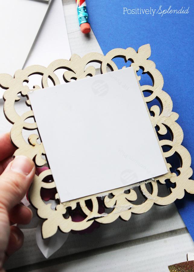 Handmade photo frame magnets. #michaelsmakers