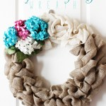 How to Make a Floral Burlap Wreath
