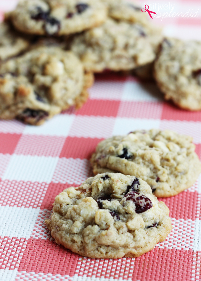 Cranberry White Chocolate Chip Cookie Recipe at Positively Splendid