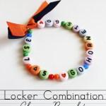 Locker Combination DIY Charm Bracelet