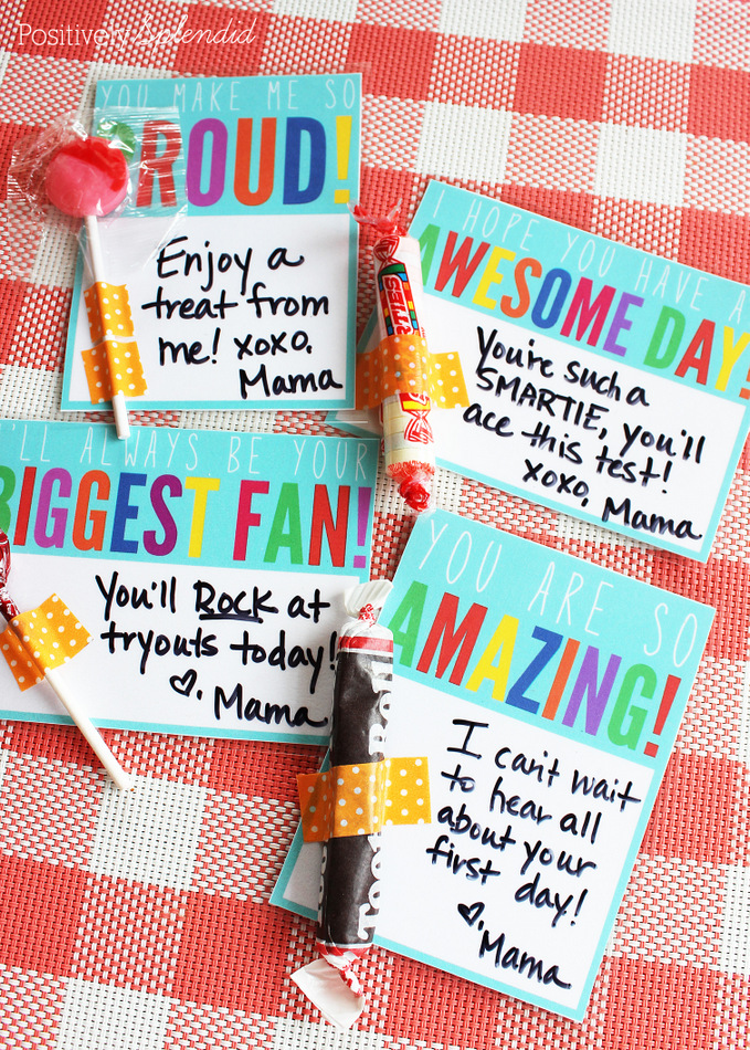 Free printables for lunchbox notes that can be used again and again. Great idea!