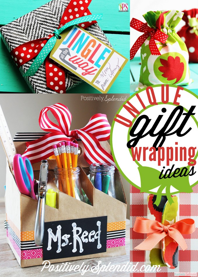 Tons of unique gift wrapping ideas! #MichaelsMakers