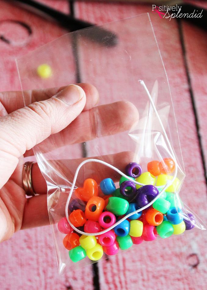 Bracelet Kit Valentine's Day Idea with Free Printable Bag Topper at Positively Splendid