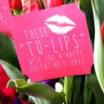 Tulip Easy Valentine Gift Idea with Free Printable Tags