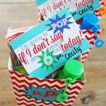 POP Party Favor Idea with Free Printables - Popcorn, ring pops and bubbles make this so much fun!