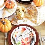 Colorful Fall Tablescape #BHGLiveBetter