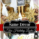Same Decor–TWO Holiday Decorating Looks!