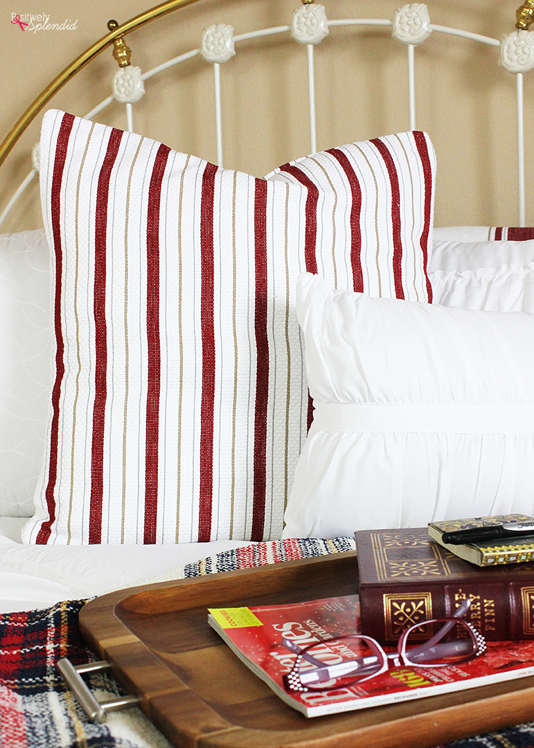 How to make a throw pillow cover from a tea towel. Smart and inexpensive! #BHGLiveBetter