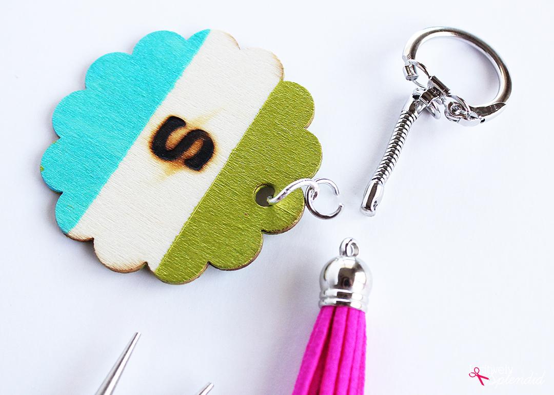 monogrammed key ring