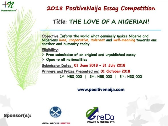 the love of a Nigerian essay competition