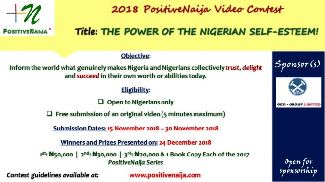 video contest on the power of the nigerian self esteem