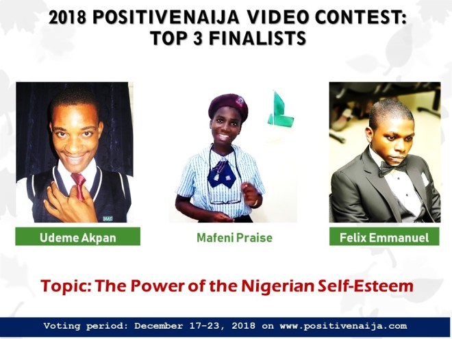 2018 PositiveNaija Video Contest Voting Proceedings